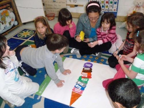 Fay Ventouris and Clarke Elementary School children