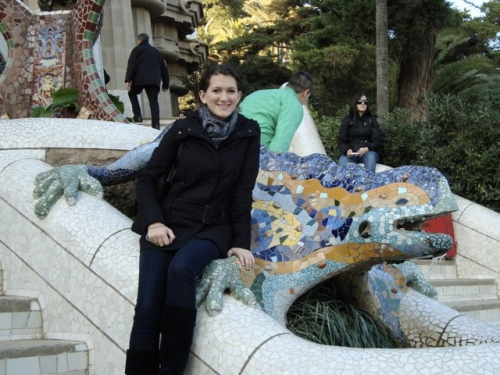 Jessica Cox at Parque Güell in Barcelona, Spain
