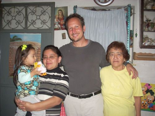 Richard Strager's homestay family