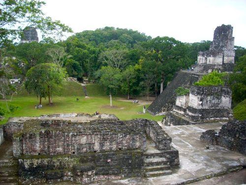 Tikal Plaza Central, Guatemala