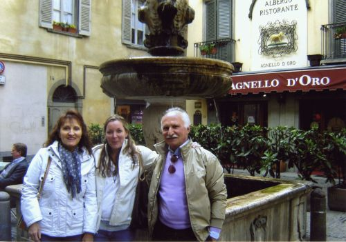 Rayanne Menery with Francesca and Bruno, her adoptive family