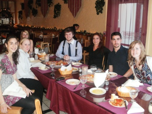 Italian Club Out to Dinner