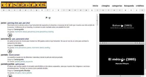 Cineglos webpage