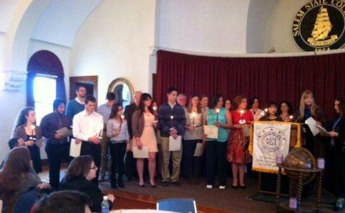 This year's Psi Sigma Iota induction ceremony