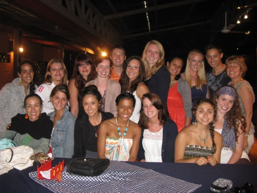 Students and professors at end of studies program party in Heredia, Costa Rica, 2012