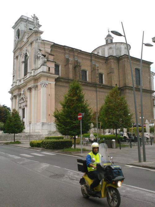 Church in Manerbio (Brescia) in the Lombardy region where Karl lives and works this year