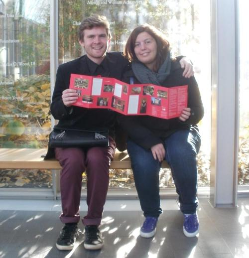 From left to right: Joshua Brown and Marta Marucci of the SSU Italian Club during their visit of the Isabella Stewart Gardner Museum