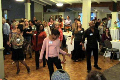 The dance lessons at the Soirée were very popular