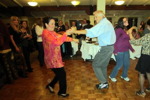 Professor Dávila let it all out on the dance floor at the Soirée