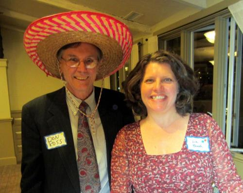 Departmente chairperson and Soirée leader, Professor Elizabeth Blood, with head of the Center for International Education Don Ross at the Soirée
