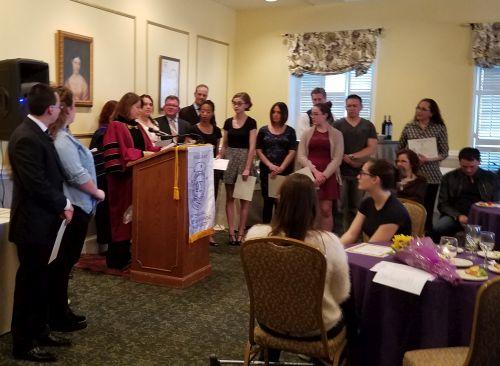 Phi Sigma Iota Induction Ceremony