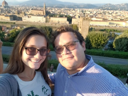 Cody and Javier in Florence, Italy